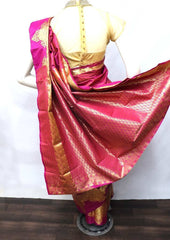 Mustard with Pink Shade Semi Silk Saree - FT5060 ARRS Silks