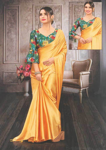 Mustard Yellow Fancy Saree-FS32463 ARRS Silks