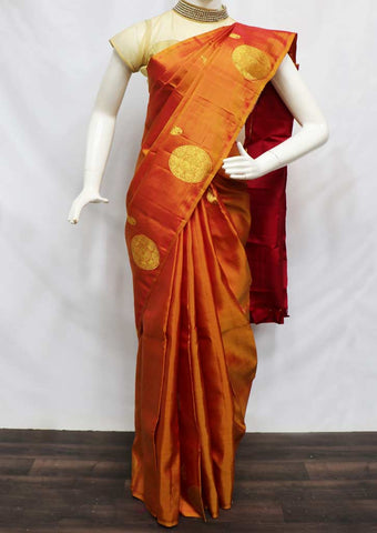 Mustard Yellow Kanchipuram Silk Saree - 9KA1851 ARRS Silks