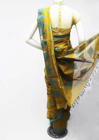 Mustard Yellow Silk Cotton Saree - FR29878 ARRS Silks