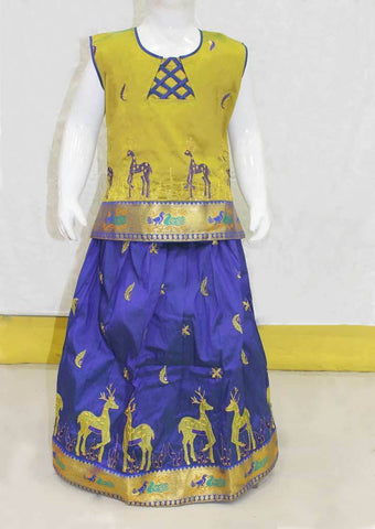 Musted Yellow Pattu Pavadai -FO21226 ARRS Silks