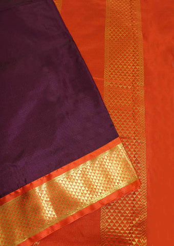 Naaval with Orange Coloured 9.5 Yards Silk Saree - FP53505 ARRS Silks