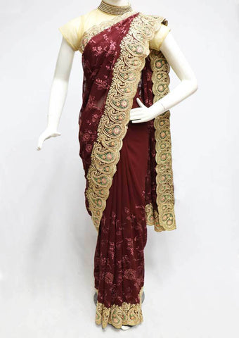 Naval Color Designer Saree-FR7225 ARRS Silks