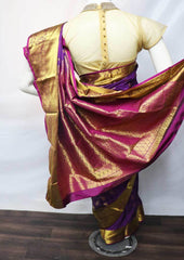Naval Color  Kanchipuram Silk Saree -FP21518 ARRS Silks