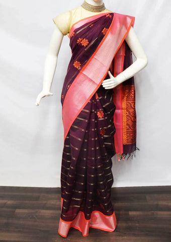 Naval color  Silk Cotton Saree - FU21615 ARRS Silks
