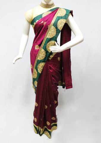 Naval Color with Green  Designer Saree-FS26387 ARRS Silks