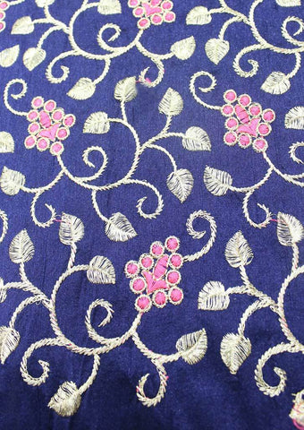 Navy Blue Blouse Fabric FD40 ARRS Silks