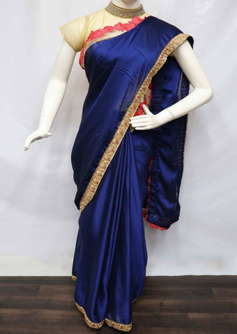 Navy Blue Color Designer Saree - ES24925 ARRS Silks