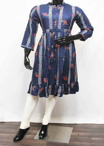 Navy Blue Color Kurti - FR94476 ARRS Silks