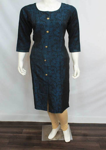 Navy Blue Color Rayon  Kurti - FQ33916 ARRS Silks