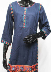 Navy Blue Cotton Kurti - FR94551 ARRS Silks
