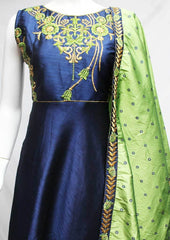 Navy Blue Readymade Salwar-FR118164 ARRS Silks