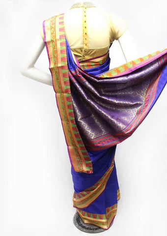 Navy Blue Semi Silk Saree- FK18395 ARRS Silks