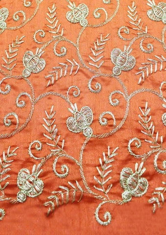 Orange Color Blouse Fabric FG3450 ARRS Silks