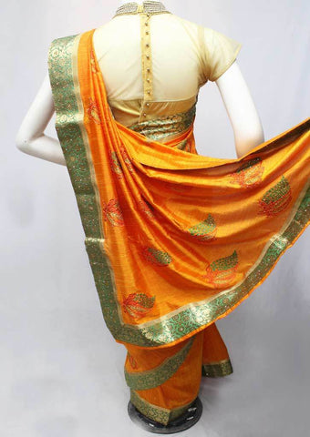 Orange Color Fancy Saree-FP35549 ARRS Silks