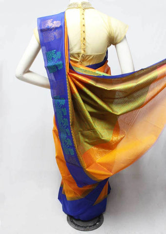 Orange Color Silk Cotton Saree - FR123257 ARRS Silks