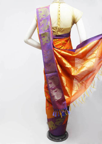 Orange Color Silk Cotton Saree - FR68815 ARRS Silks