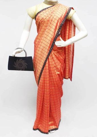 Orange Color Synthetic Saree-FR95432 ARRS Silks
