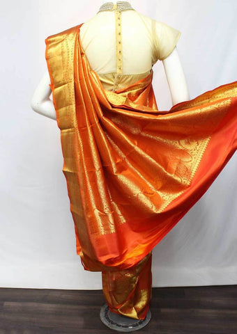 Orange  Wedding Silk Saree - FQ102906 ARRS Silks