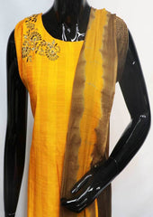 Orange with Brown Straight Cut  Readymade Salwar-FR88553 ARRS Silks