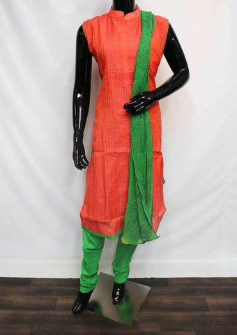 Orange with Green Straight Cut  Readymade Salwar-FQ29638 ARRS Silks