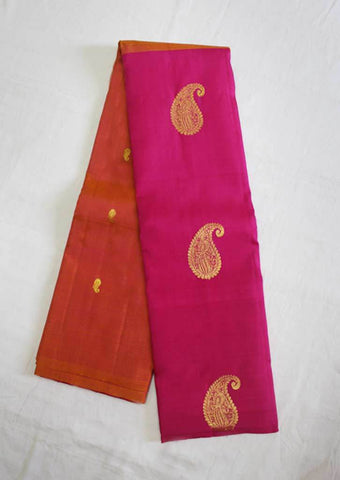 Orange With Pink Kanchipuram Silk Saree- FF4280 ARRS Silks