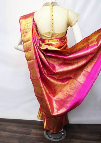 Orange with Pink Wedding Silk Saree - FU71572 ARRS Silks