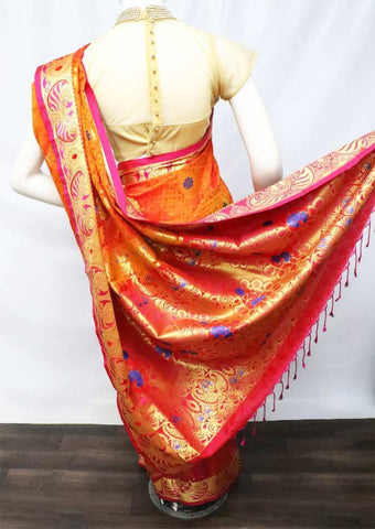 Orange with Red Shade Soft Semi Silk Saree - FU27740 ARRS Silks