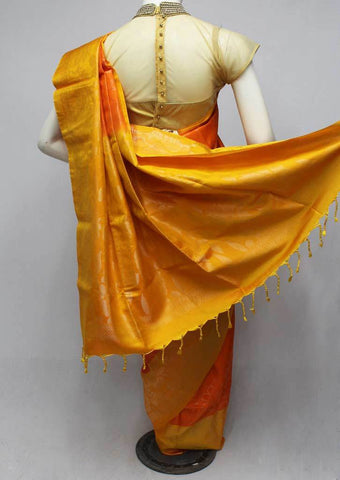 Orange with Yellow Soft Silk Saree -FQ110850 ARRS Silks