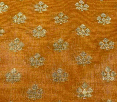 Orangish yellow Blouse Fabric EW13998 ARRS Silks
