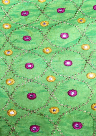 Parrot Green Blouse Fabric FR104102 ARRS Silks