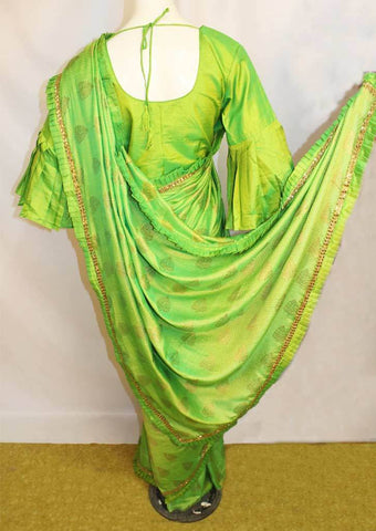 Parrot Green Fancy Saree-FO45793 ARRS Silks