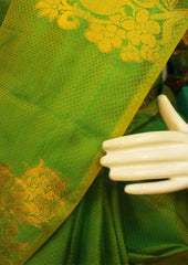 Parrot Green  Kanchipuram Silk Saree-FM92708 ARRS Silks