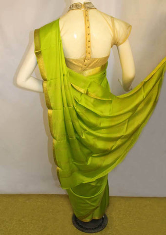Parrot Green Mysore Silk Saree-FA1191 ARRS Silks