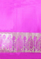 Parrot Green With Pink Kanchipuram Silk Saree -FQ102888 ARRS Silks