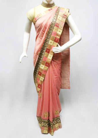 Peach color Designer Saree-FS26374 ARRS Silks