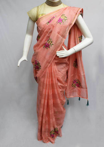 Peach Color Fancy saree -FQ121275 ARRS Silks