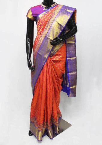 Peach Color  Wedding Silk Saree - FF31718 ARRS Silks