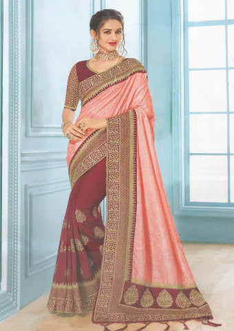 Peach Designer Saree - FS7569 ARRS Silks
