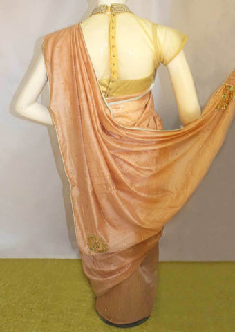 Peach Sana Silk Saree-FO46128 ARRS Silks