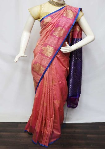 Peach Semi Silk Saree  - GC58936 ARRS Silks