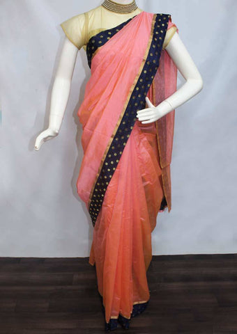 Peach Varanasi Cotton Saree - FP2755 ARRS Silks