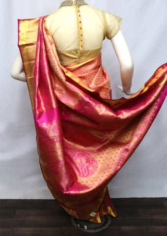 Peach With Pink Wedding Silk Saree - FV26733 ARRS Silks