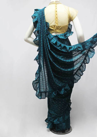 Peacock Blue Designer Saree-FQ138576 ARRS Silks
