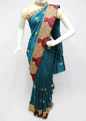 Peacock Blue Designer Saree-FS26438 ARRS Silks