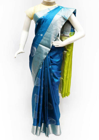 Peacock Blue with Green Soft Silk Saree - FK15569 ARRS Silks