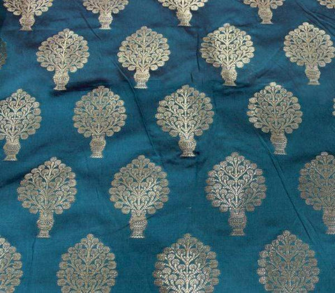 Peacock green Blouse Fabric EW14813 ARRS Silks