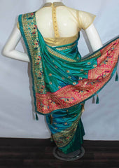 Peacock Green Designer Saree-FN58562 ARRS Silks