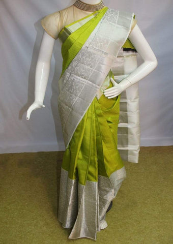 Peacock Green Kanchipuram Silk Saree-FM83180 ARRS Silks