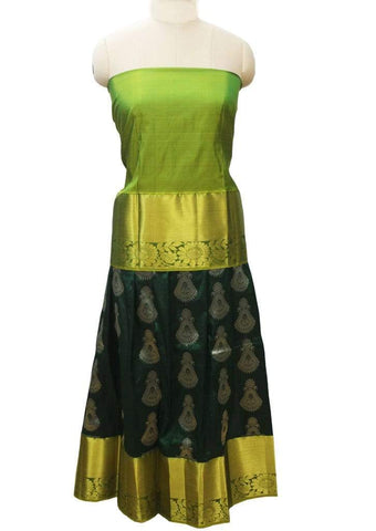Peacock Green Pure silk pavadai - FI10784 ARRS Silks